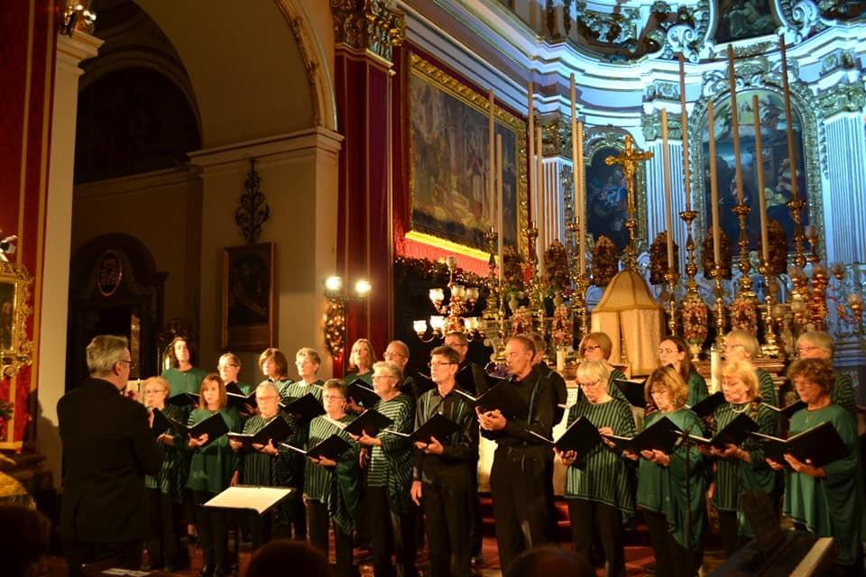 rencontre de chorales à Rabat (Malte)